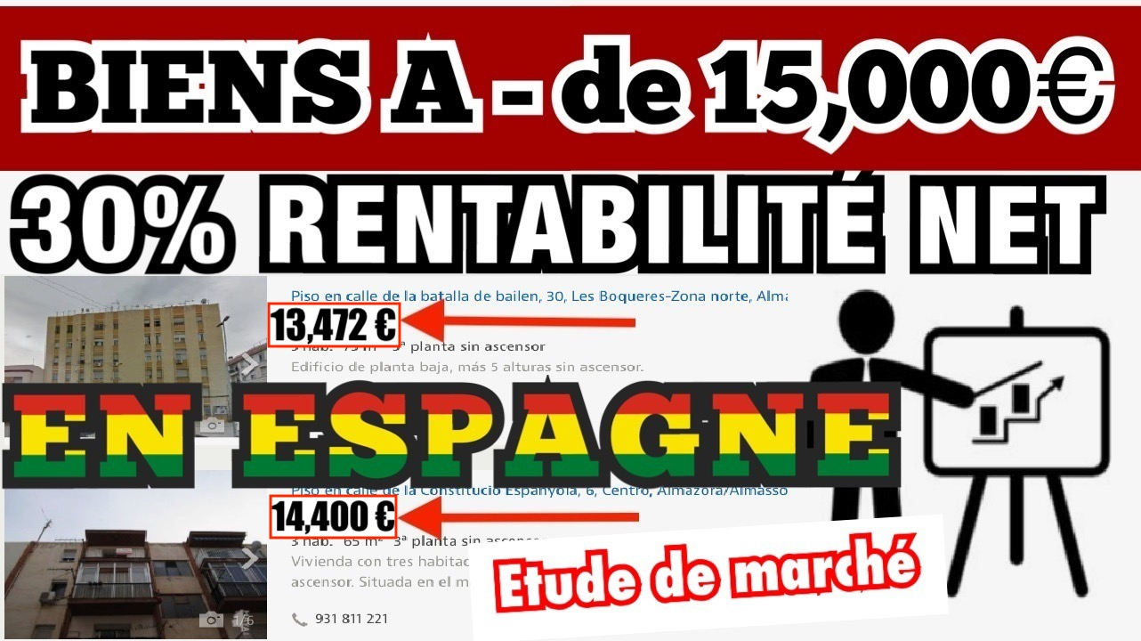 IMMOBILIER EN ESPAGNE – INVESTIR À MOINS DE 15,000 € ? LA VÉRITÉ !